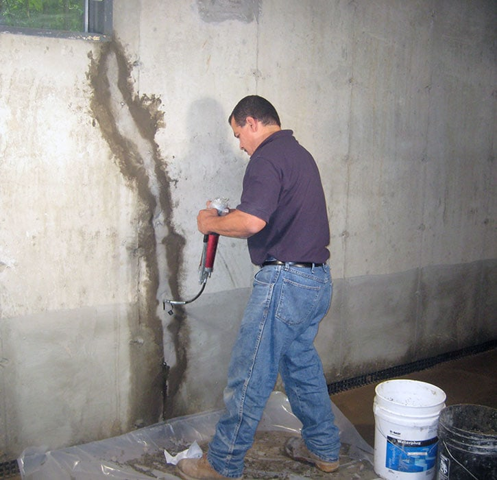 interior foundation waterproofing