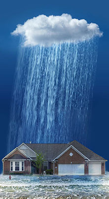 a big storm can make your basement leak water
