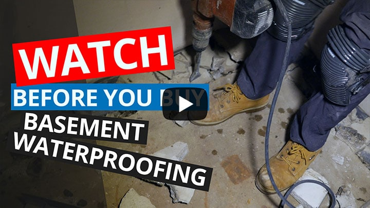 Basement Waterproofing Installation