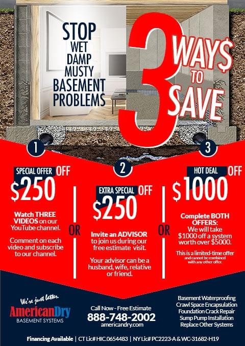 Save Money on Basement Waterproofing