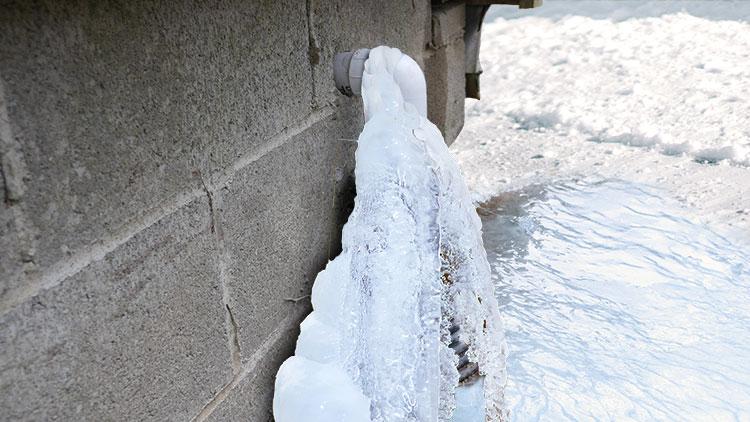 Discharge Line Frozen Solid
