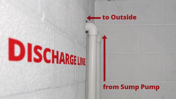 Sump Pump Discharge Line